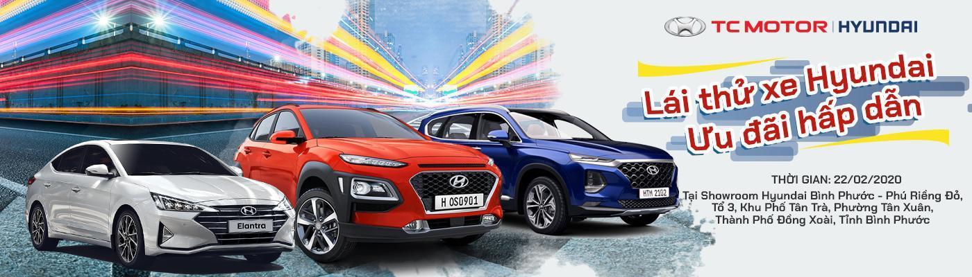 Sự kiện lái thử xe Hyundai tại Đồng Xoài