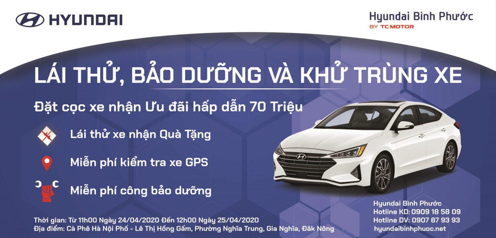 Ngày hội lái thử xe Hyundai và chăm sóc xe tại Đăk Nông
